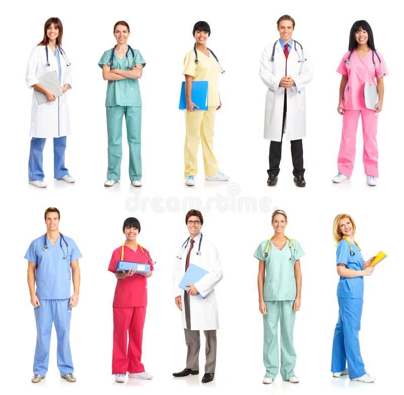 medicinskt folk arkivbild