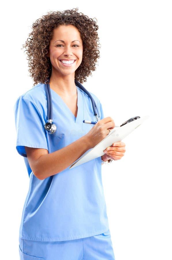 medicinskt le för sjuksköterska arkivfoto