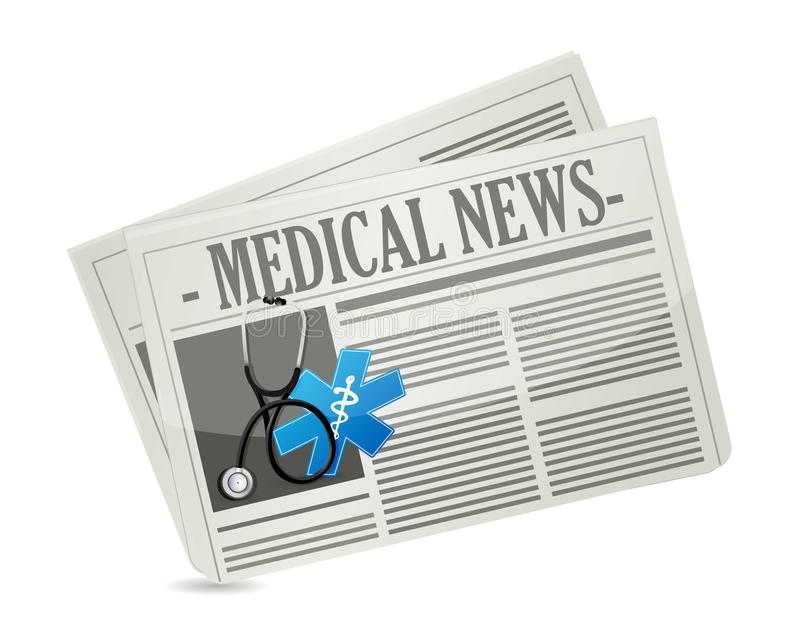 Medicinskt nyheternabegrepp stock illustrationer