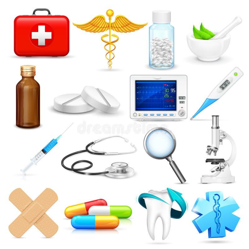 Medicinskt objekt stock illustrationer