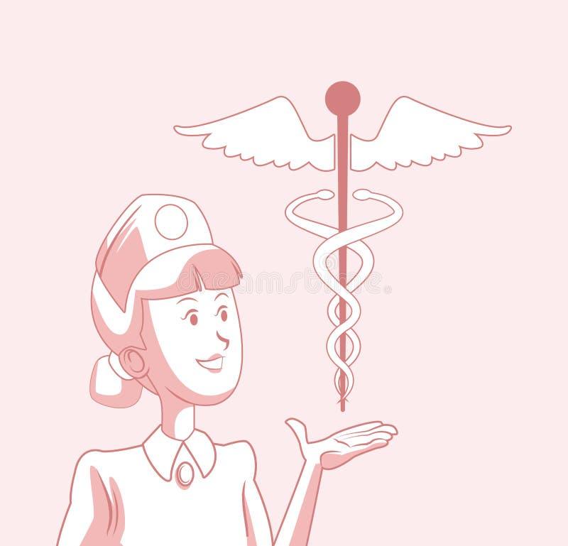 Medicinskt och vård- begrepp vektor illustrationer