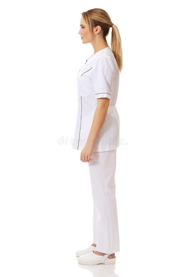 Medicinskt sjuksköterskakvinnaanseende arkivbilder
