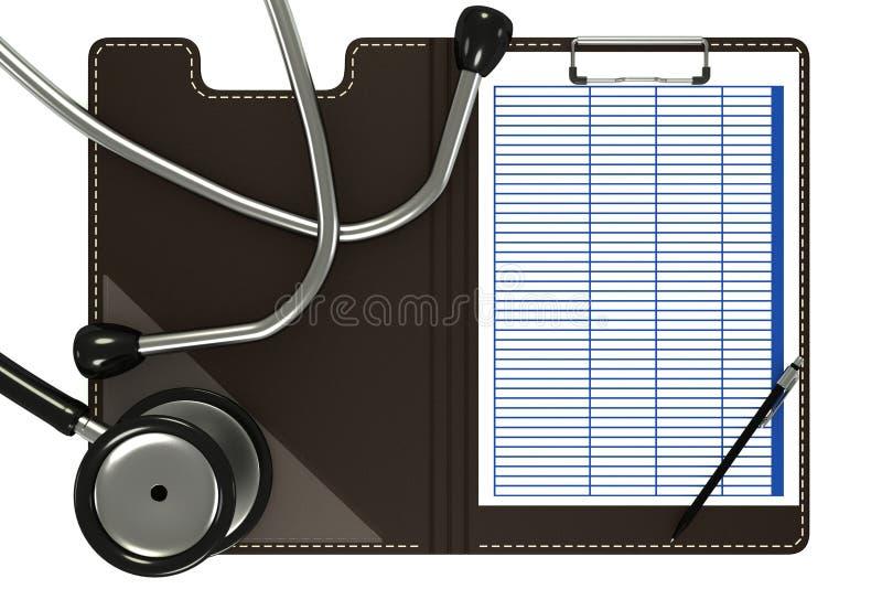 Medicinskt stetoskop stock illustrationer