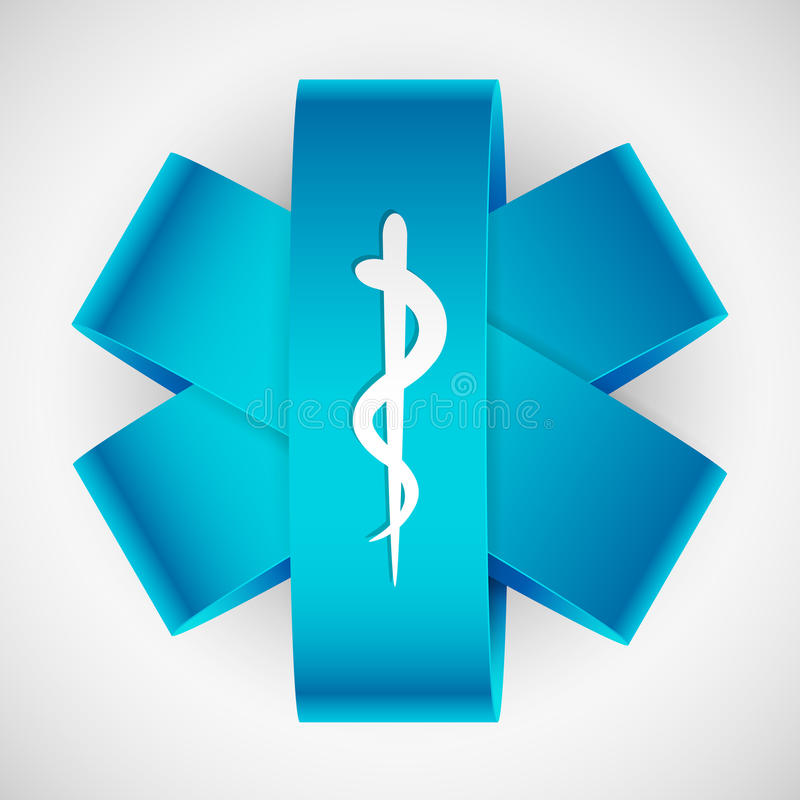 Medicinskt symbol stock illustrationer