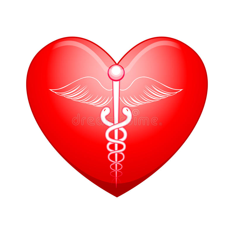 Medicinskt symbol på hjärta vektor illustrationer