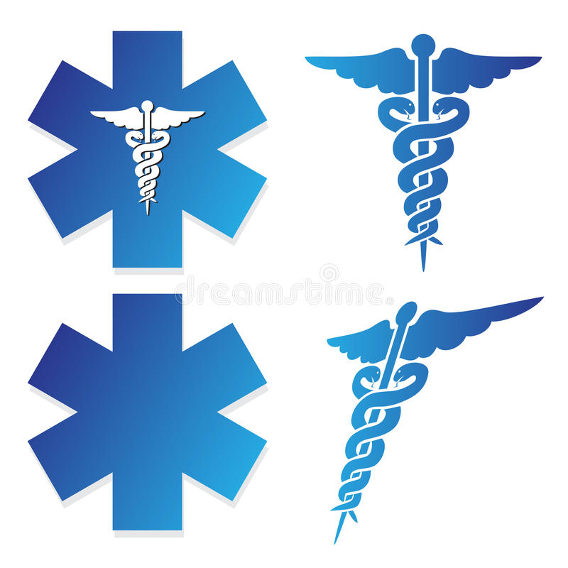 medicinskt tecken royaltyfri illustrationer