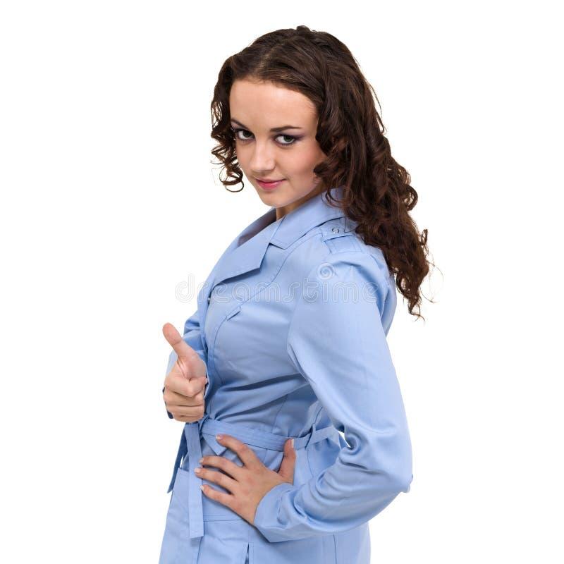 medicinskt tecken Doktor eller sjuksköterska för ung kvinna med kopieringsutrymme för text royaltyfria foton