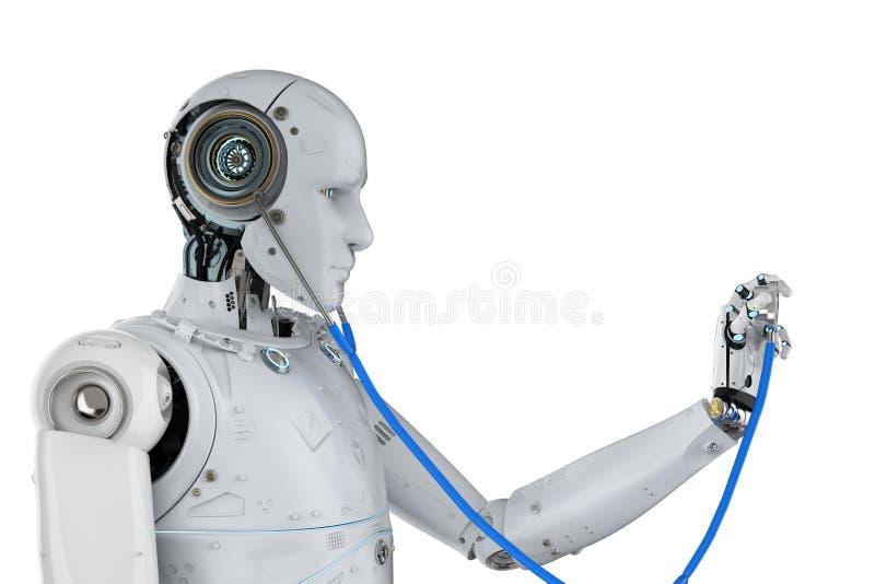 Medicinskt teknologibegrepp royaltyfri illustrationer