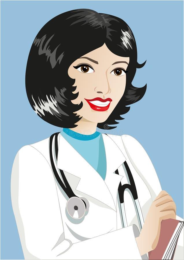 medicinterapeut royaltyfri illustrationer