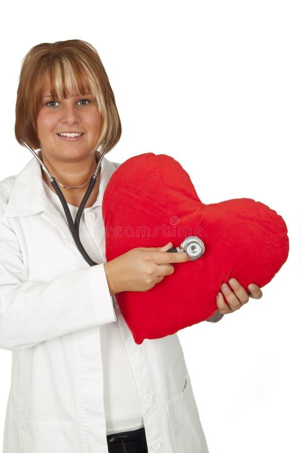 Medico con cuore fotografia stock