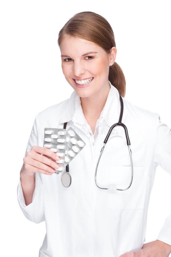 Medico con le pillole immagini stock libere da diritti