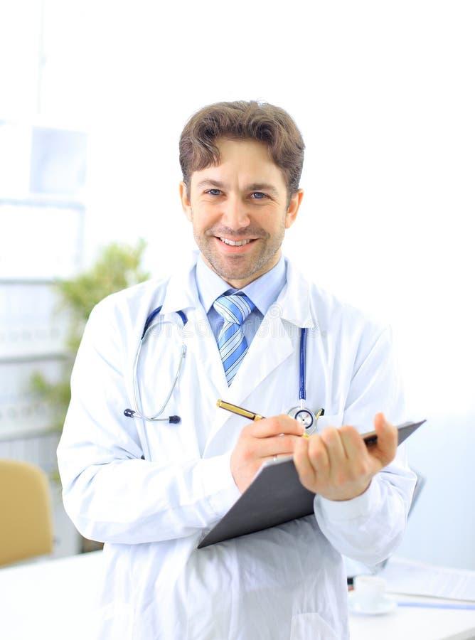 Medico con lo stetoscopio. fotografia stock libera da diritti