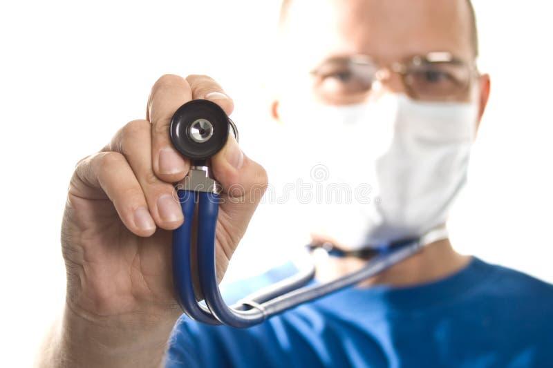 Medico con lo stetoscopio immagine stock