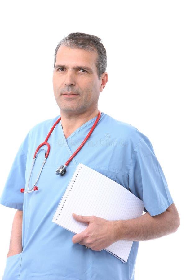 Medico con un blocchetto per appunti immagine stock libera da diritti