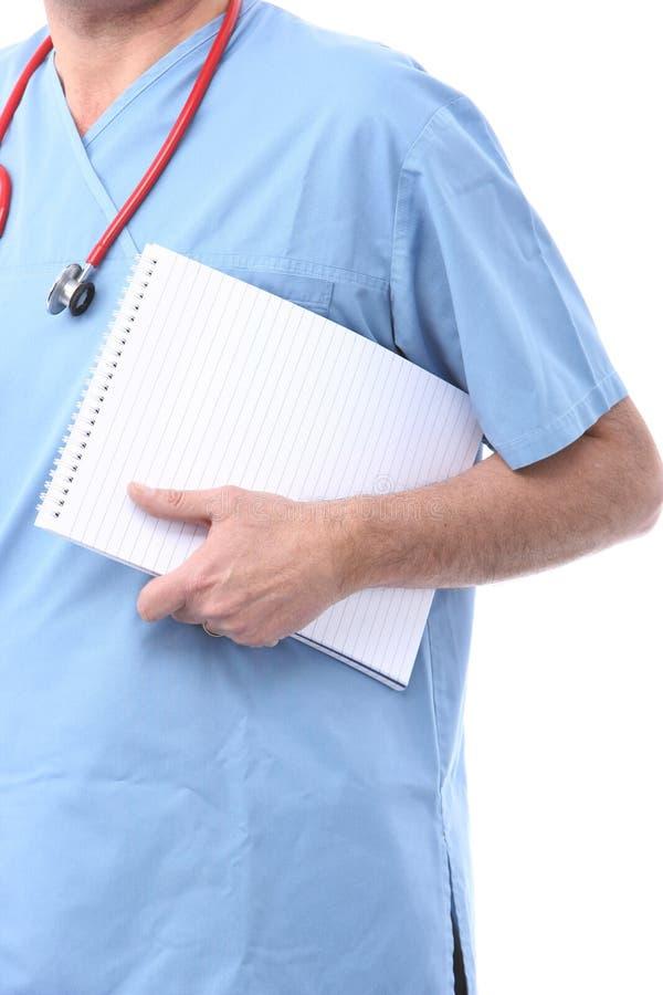 Medico con un blocchetto per appunti immagini stock