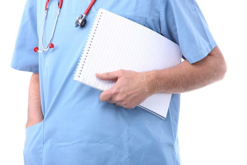 Medico con un blocchetto per appunti fotografia stock libera da diritti