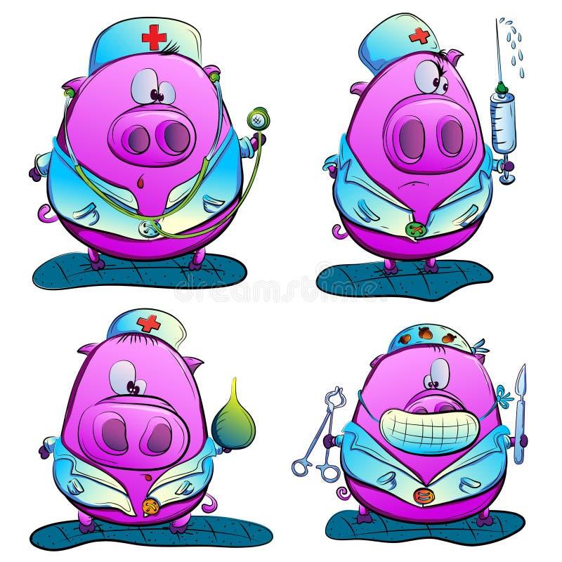 Medico del maiale illustrazione di stock