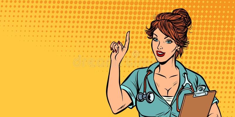 Medico della donna, professione medica illustrazione di stock
