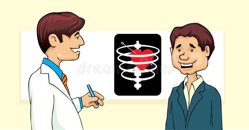 Medico e paziente royalty illustrazione gratis