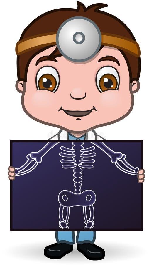 Medico e raggi X royalty illustrazione gratis