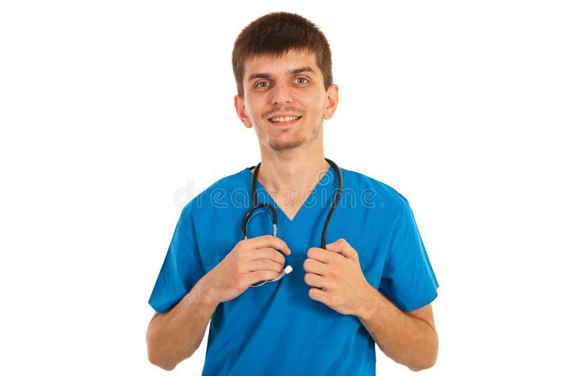 Medico felice dello studente fotografia stock
