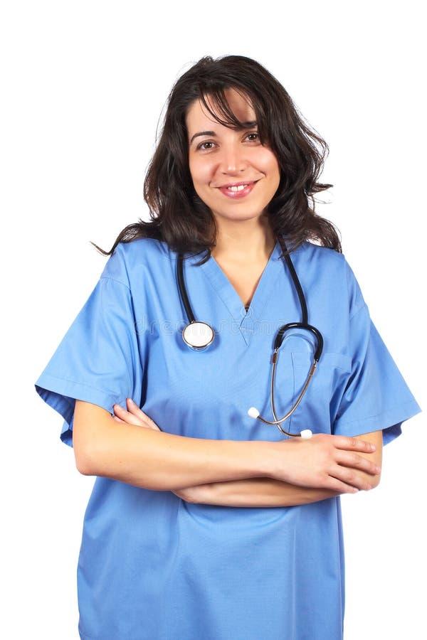 Download Medico Femminile Amichevole Immagine Stock - Immagine di aiuto, prescrizione: 3884237