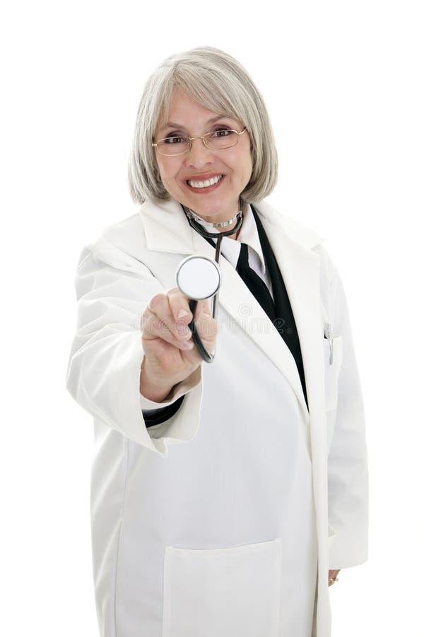 Medico femminile maturo fotografia stock