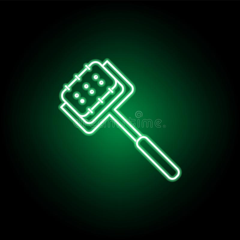 Medico, icona del rullo di derma nello stile al neon Elemento dell'illustrazione della medicina I segni e l'icona di simboli poss illustrazione vettoriale