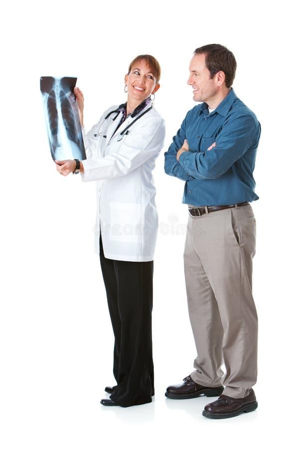 Medico: Il dottore Has Good Outlook per la diagnosi immagini stock