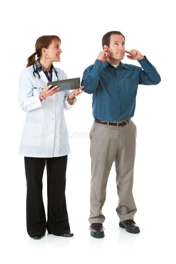 Medico: Il paziente vuole trascurare il Advice del dottore fotografia stock