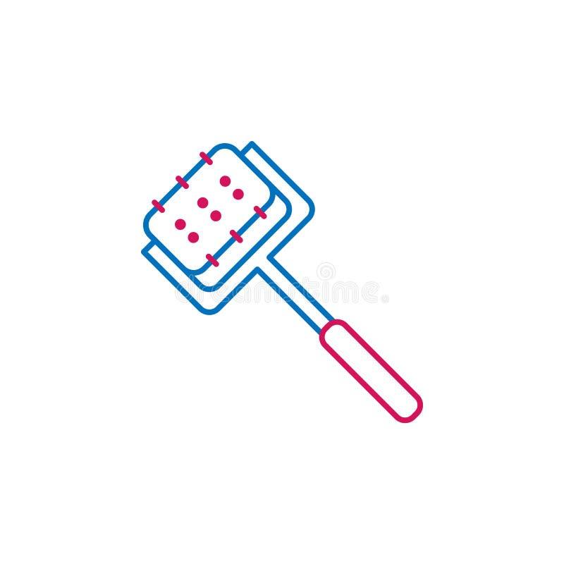 Medico, il rullo di derma ha colorato l'icona Elemento dell'illustrazione della medicina I segni e l'icona di simboli possono ess illustrazione di stock
