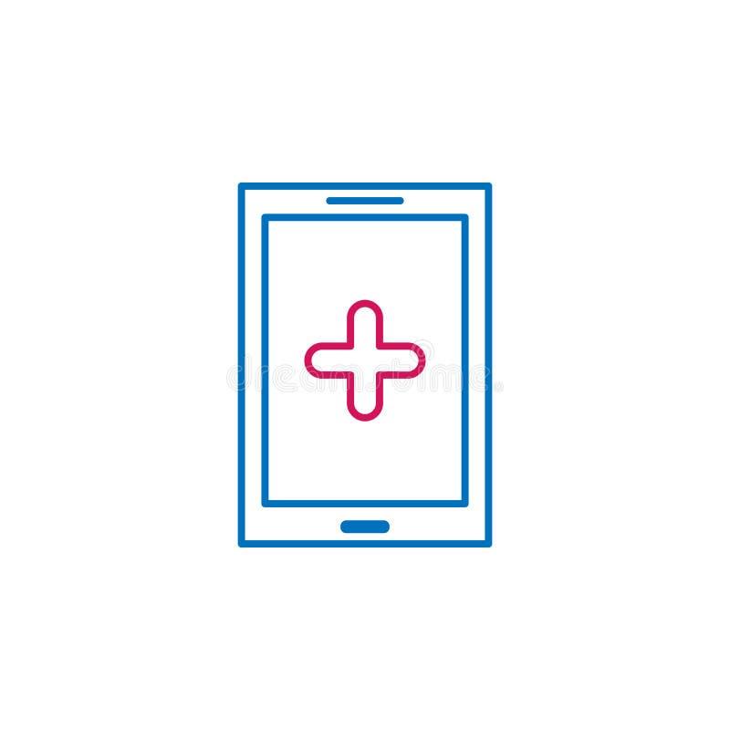 Medico, lo smartphone, medicina ha colorato l'icona Elemento dell'illustrazione della medicina I segni e l'icona di simboli posso illustrazione di stock