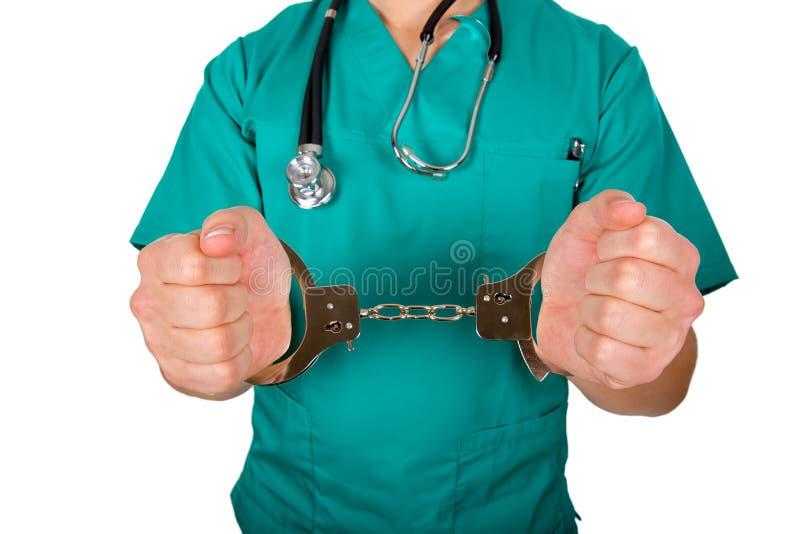 Medico maschio corrotto immagini stock