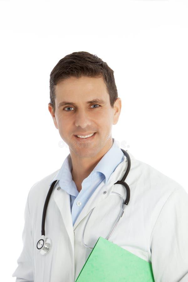 Medico maschio sicuro sorridente immagine stock