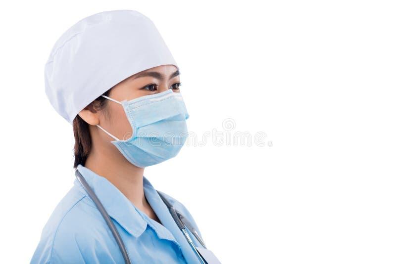Medico nella mascherina protettiva fotografia stock libera da diritti