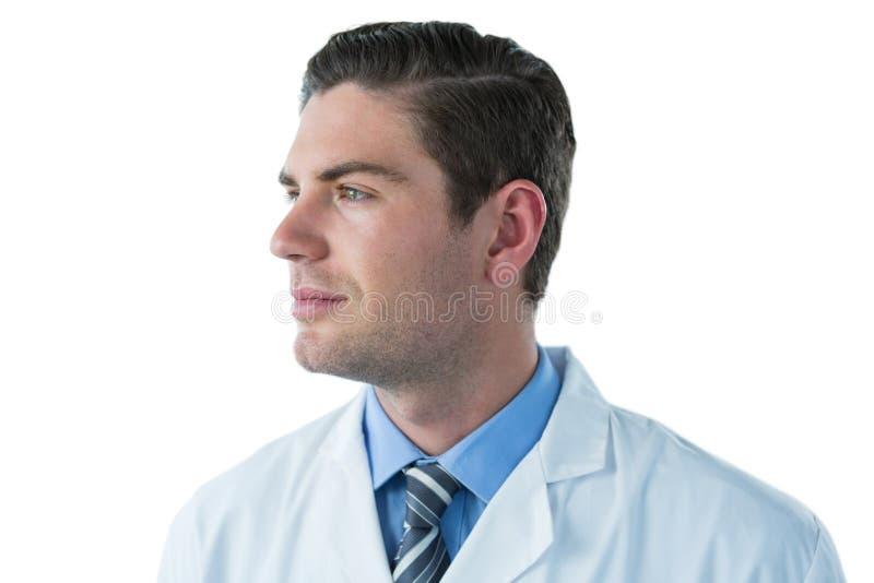 Medico premuroso nel labcoat fotografia stock