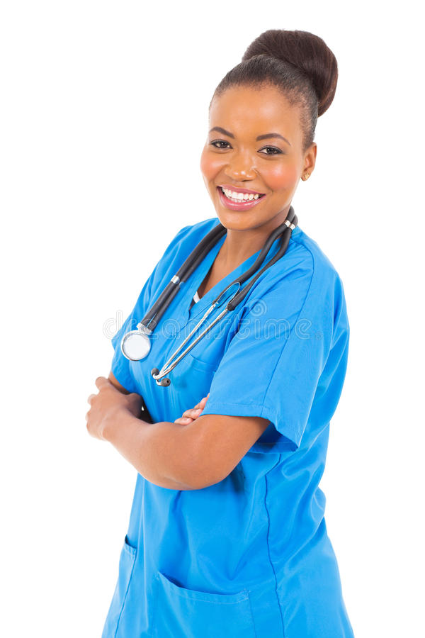 Medico specialista africano fotografia stock