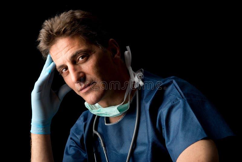 Medico stanco fotografia stock