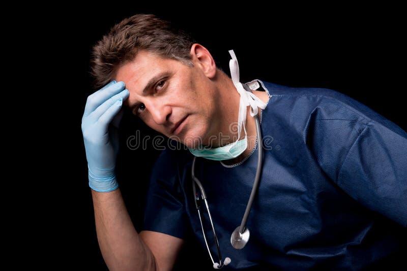 Medico stanco immagine stock