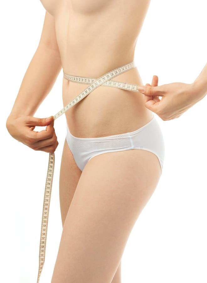 Medida bonita do corpo da mulher imagem de stock