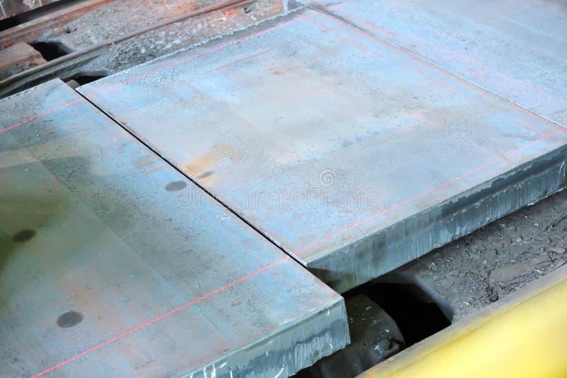 Medida caliente del laser del acero fotografía de archivo