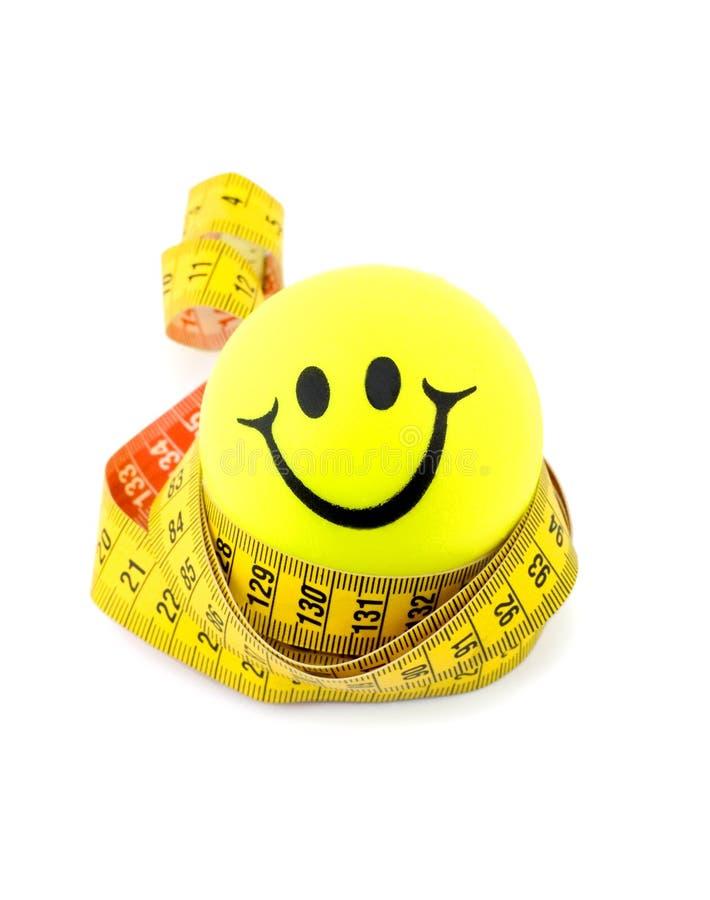 Medida da esfera e de fita do smiley imagens de stock royalty free