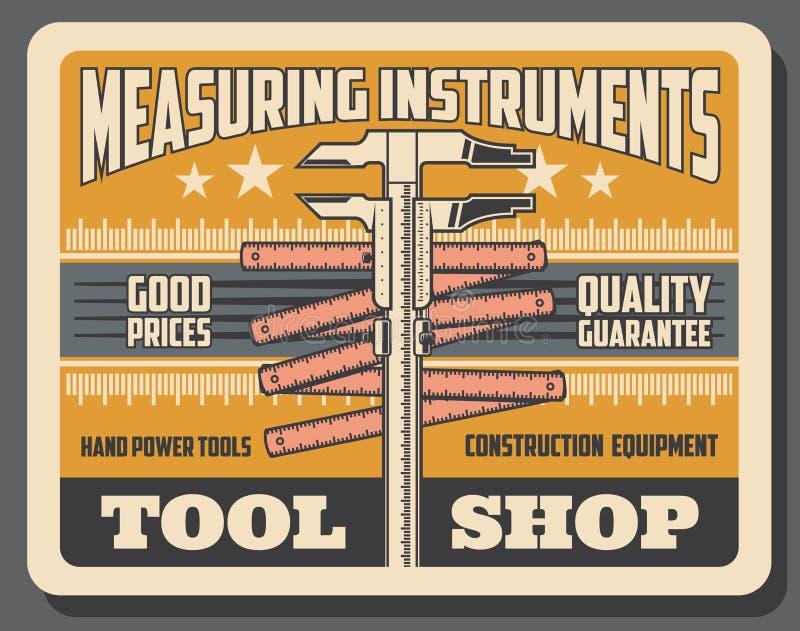 A medida das ferramentas do reparo e da construção compra ilustração do vetor