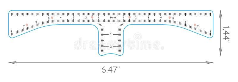 Medida de cejas stock de ilustración