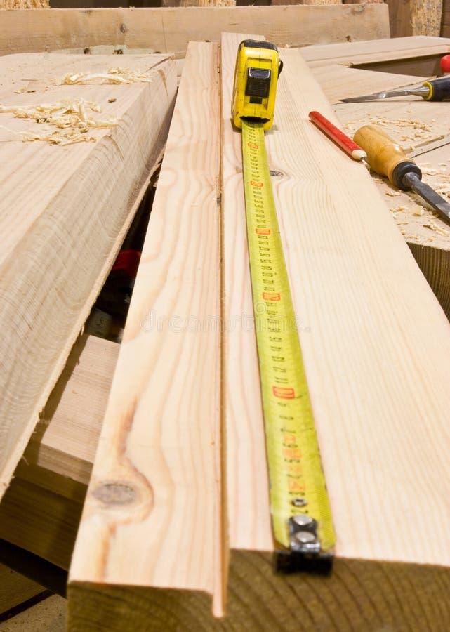 Medida de fita da carpintaria imagens de stock