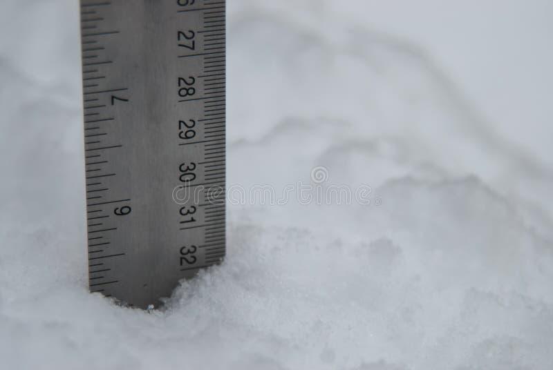 Medida de la nieve blanca mullida imágenes de archivo libres de regalías