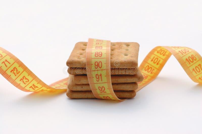 Medida de las galletas fotografía de archivo libre de regalías