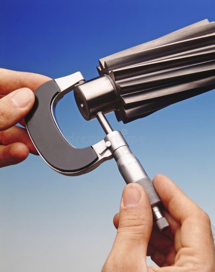 Medida de precisão mecânica imagens de stock royalty free