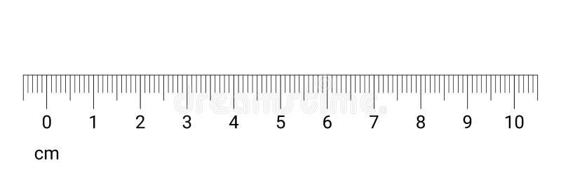 A medida do cm da régua numera a escala do vetor ilustração do vetor