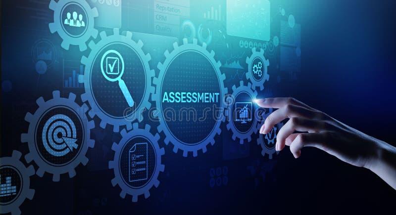 Medida do conceito da tecnologia da avaliação da analítica do negócio da análise da avaliação fotos de stock